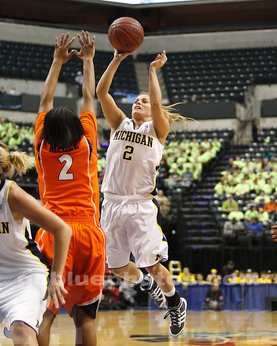 University of Michigan women's basketball 55-47 to Illinois  in the 2011 Big Ten Basketball Tournament at Conseco Fieldhouse in Indianapolis, IN, on March 4, 2011.