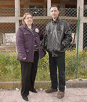 Italy / Sicilia / Enna / 15.3.2011 / Mohamed Ali, from Tunisia, and Elisa, from Sicily: they are married, they live and work in Enna. <br /> <br /> © Giulia Marchi