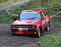 Ian Millar / Ronan O'Neill at Junction 6, on Special Stage 1 Craigvinean in the Colin McRae Forest Stages Rally 2012, Round 8 of the RAC MSA Scotish Rally Championship which was organised by Coltness Car Club and based in Aberfeldy on 5.10.12.
