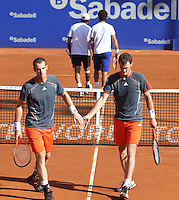 26.04.2012. Barcelona, Spain.ATP Barcelona Open Banc Sabadell. Picture show Andy and Jamie Murray