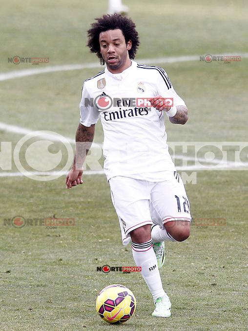 Real Madrid's Marcelo Vieira during La Liga match.January 18,2013. (ALTERPHOTOS/Acero) /NortePhoto<br /> NortePhoto.com