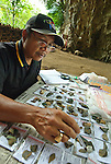 "ARKENAS researcher Jatmiko is charged with measuring and describing the thousands of stone tools recovered from digs at Liang Bua, discovery site of the ""Flores hobbit"" (Homo floresiensis)"