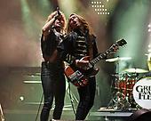 MIAMI FL - MAY 07: Josh Kiszka and Jake Kiszka of Greta Van Fleet perform at Bayfront Park Amphitheater on May 7, 2019 in Miami, Florida. Photo by Larry Marano © 2019