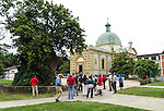 VMI Vincentian Heritage Tour:  The Great Oak Treet at Le Berceau de Saint Vincent de Paul - the birthplace of Vincent de Paul - outside Dax, France - visited by the VMI Cohort Saturday, June 25, 2016. (DePaul University/Jamie Moncrief)