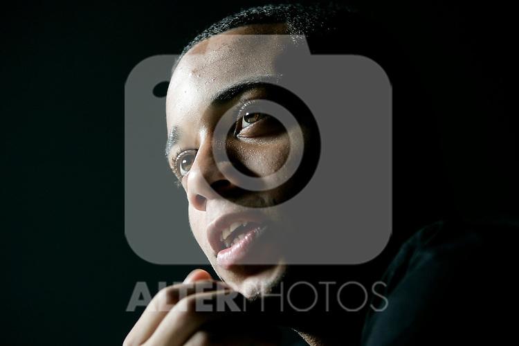 Real Madrid's Marcelo during portrait session, November 07, 2008. (ALTERPHOTOS/Alvaro Hernandez)