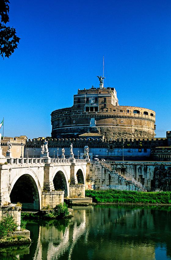 Ponte Sant' Angelo (bridge) and Castel Sant' Angelo, Rome, Italy