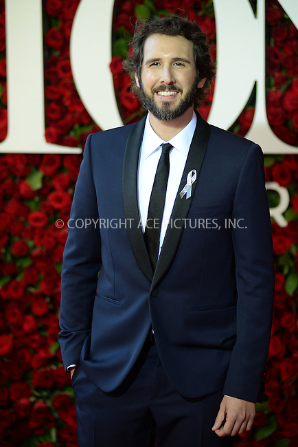 www.acepixs.com<br /> June 12, 2016  New York City<br /> <br /> Josh Groban attending the 70th Annual Tony Awards at The Beacon Theatre on June 12, 2016 in New York City.<br /> <br /> Credit: Kristin Callahan/ACE Pictures<br /> <br /> <br /> Tel: 646 769 0430<br /> Email: info@acepixs.com