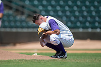 Winston-Salem Dash starting pitcher Ian Clarkin (20) collects his thoughts behind the mound prior to the start of the game against the Salem Red Sox at BB&T Ballpark on July 23, 2017 in Winston-Salem, North Carolina.  The Dash defeated the Red Sox 11-10 in 11 innings.  (Brian Westerholt/Four Seam Images)