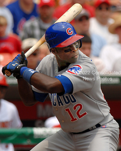 Washington, D.C. - July 4, 2007 -- Chicago Cubs all-star left fielder Alfonso Soriano (12) bats in the third inning against the Washington Nationals at RFK Stadium in Washington, D.C. on Wednesday, July 4, 2007.  The Nationals won the game 6 - 0..Credit: Ron Sachs / CNP