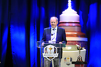 Phil Weaver PGA Chairman on stage at the Closing Ceremony after Sunday's Singles Matches of the 39th Ryder Cup at Medinah Country Club, Chicago, Illinois 30th September 2012 (Photo Colum Watts/www.golffile.ie)
