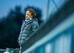 AMSTELVEEN -  coach Jan John van 't Land (Adam)  tijdens de play-offs hoofdklasse  heren , Amsterdam-Bloemendaal (0-2).    COPYRIGHT KOEN SUYK