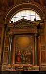 St Michael Archangel and Angels Adoring the Trinity Federico Zuccari Cappella degli Angeli Chiesa del Gesu Rome