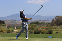 Zander Lombard (RSA) on the 2nd tee during Round 3 of the Rocco Forte Sicilian Open 2018 on Saturday 12th May 2018.<br /> Picture:  Thos Caffrey / www.golffile.ie<br /> <br /> All photo usage must carry mandatory copyright credit (&copy; Golffile   Thos Caffrey)