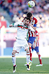 Atletico de Madrid's Gabi Fernandez (b) and Granada Club de Futbol's Isaac Cuenca during La Liga match. April 17,2016. (ALTERPHOTOS/Acero)