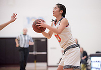 #21 Erin Matsumoto. The Occidental College women's basketball team take on Chapman University in Rush Gym, Jan. 12, 2016.<br /> (Photo by Marc Campos, Occidental College Photographer)