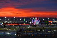 28-31 January, 2016, Daytona Beach, Florida USA<br /> Cars race through the infield as the sun rises.<br /> &copy;2016, F. Peirce Williams