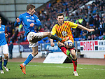 St Johnstone v Partick Thistle....17.01.15  SPFL<br /> David Wotherspoon and Stephen O'Donnell<br /> Picture by Graeme Hart.<br /> Copyright Perthshire Picture Agency<br /> Tel: 01738 623350  Mobile: 07990 594431