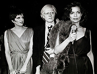 New York, NY 1978 FILE PHOTO<br /> Liza Minelli, Andy Warhol, Bianca Jagger<br /> Studio 54<br /> Digital photo by Adam Scull-PHOTOlink.net
