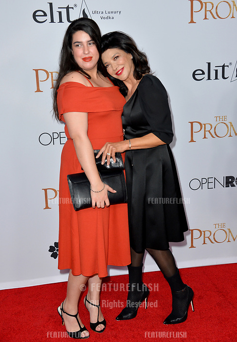 Shohreh Aghdashloo &amp; Tara Touzie at the premiere for &quot;The Promise&quot; at the TCL Chinese Theatre, Hollywood. Los Angeles, USA 12 April  2017<br /> Picture: Paul Smith/Featureflash/SilverHub 0208 004 5359 sales@silverhubmedia.com