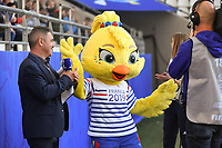 20190608 - REIMS , FRANCE : illustration of the officiial Worldcup 2019 mascot  pictured during the female soccer game between Norway – the Grashoppene - and Nigeria – The Super Falcons - , the first game for both teams in group A during the FIFA Women's  World Championship in France 2019, Saturday 8 th June 2019 at the Auguste Delaune Stadium in Reims , France .  PHOTO SPORTPIX.BE | DIRK VUYLSTEKE