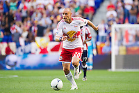 Joel Lindpere (20) of the New York Red Bulls. The New York Red Bulls and CD Chivas USA played to a 1-1 tie during a Major League Soccer (MLS) match at Red Bull Arena in Harrison, NJ, on May 23, 2012.