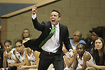 SIOUX FALLS MARCH 22:  Alaska Anchorage head coach Ryan McCarthy shouts toward his players during their quarterfinal game against Francis Marion at the NCAA Women's Division II Elite 8 Tournament at the Sanford Pentagon in Sioux Falls, S.D.  (Photo by Dick Carlson/Inertia)