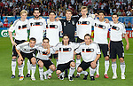 Team Germany against Poland at Euro 2008. Back row from left: Marcell Jansen, Chrisoph Metzelder, Mario Gomez, Jens Lehmann, Per Mertesacker, Michael Ballack and Miroslav Klose. Front row from left: Lukas Podolski, Philipp Lahm, Torsten Frings and Clemens Fritz. Germany-Poland in Klagenfurt (Austria) 06082008.