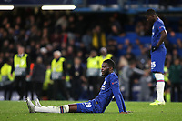 Fikayo Tomori and Kurt Zouma of Chelsea show their frustration at the final whistle during Chelsea vs AFC Ajax, UEFA Champions League Football at Stamford Bridge on 5th November 2019