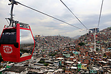 BRAZIL, Rio de Janiero, Favela, gondola lift leaving the Baiana Station loacted within the Complexo do Alemao