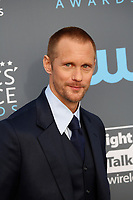 Alexander Skarsgard attends the 23rd Annual Critics' Choice Awards at Barker Hangar in Santa Monica, Los Angeles, USA, on 11 January 2018. Photo: Hubert Boesl - NO WIRE SERVICE - Photo: Hubert Boesl/dpa /MediaPunch ***FOR USA ONLY***