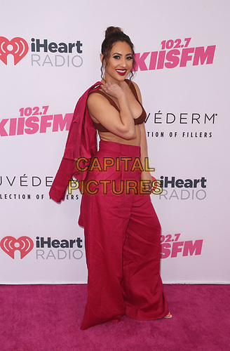 CARSON, CA - June 1: Francia Raisa, at 2019 iHeartRadio Wango Tango Presented By The JUVÉDERM® Collection Of Dermal Fillers at Dignity Health Sports Park in Carson, California on June 1, 2019.   <br /> CAP/MPI/SAD<br /> ©SAD/MPI/Capital Pictures