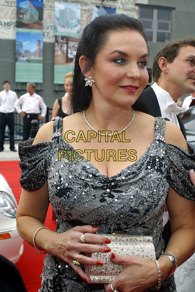 CRYSTAL GAYLE.Red Carpet Gala for the Grand Opening of the Schermerhorn Symphony Hall, Nashville, Tennessee, USA..September 9th, 2006 .Ref: ADM/RR.half length grey gray cleavage.www.capitalpictures.com.sales@capitalpictures.com.©AdMedia/Capital Pictures.