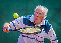 Hilversum, The Netherlands,  August 18, 2020,  Tulip Tennis Center, NKS, National Senior Championships, Men's single 85+ , Roel Lubberts (NED) <br /> Photo: www.tennisimages.com/Henk Koster