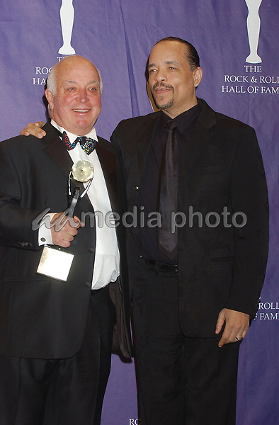 14 March 2005 - New York, New York - Ice-T, Presenter and Seymour Stein. 2005 Rock and Roll Hall of Fame Induction Ceremony held at the Waldorf Astoria. Photo Credit: Laura Farr/AdMedia