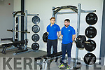 John Keane and Michael Stack in the Weightlifting area in the gym in the Listowel Community Centre