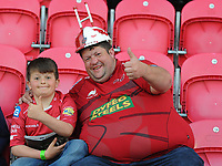 Scarlets fans prior to kick off <br /> <br /> Photographer Ashley Crowden/CameraSport<br /> <br /> Guinness PRO12 Round 19 - Scarlets v Benetton Treviso - Saturday 8th April 2017 - Parc y Scarlets - Llanelli, Wales<br /> <br /> World Copyright &copy; 2017 CameraSport. All rights reserved. 43 Linden Ave. Countesthorpe. Leicester. England. LE8 5PG - Tel: +44 (0) 116 277 4147 - admin@camerasport.com - www.camerasport.com