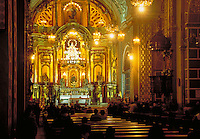 South America ; travel ; cathedral ; interior ; altar ; Catholicism. Lima, Peru.