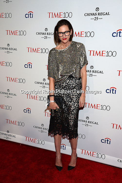 Jenna Lyons attends the TIME 100 Issue celebrating the 100 Most Influential People in the World on April 21, 2015 <br /> at Frederick P Rose Hall at Lincoln Center in New York City, New York, USA.<br /> <br /> photo by Robin Platzer/Twin Images<br />  <br /> phone number 212-935-0770