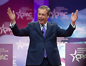 Nigel Farage, Member of the European Parliament, speaks at the Conservative Political Action Conference (CPAC) at the Gaylord National Resort and Convention Center in National Harbor, Maryland on Friday, March 1, 2019.<br /> Credit: Ron Sachs / CNP