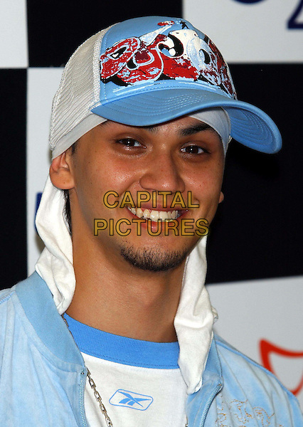 BILLY CRAWFORD.96.4 BRBM's Party in the Park .sales@capitalpictures.com.www.capitalpictures.com.©Capital Pictures.headshot, portrait, baseball cap, smiling, goatee, beard