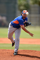 New York Mets pitcher Michael Fulmer (34) during a minor league spring training game against the St. Louis Cardinals on April 1, 2015 at the Roger Dean Complex in Jupiter, Florida.  (Mike Janes/Four Seam Images)