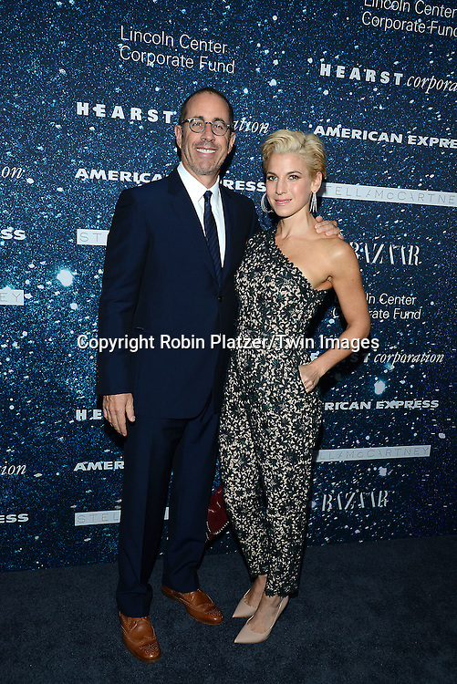 Jerry Seinfeld and wife Jessica Seinfeld attend the Stella McCartney Honored by Lincoln Center at Gala on November 13, 2014 at Alice Tully Hall in New York City, USA. She was given the Women's Leadership Award which was presented bythe LIncoln Center for the Performing Arts' Corporate Fund.<br /> <br /> photo by Robin Platzer/Twin Images<br />  <br /> phone number 212-935-0770