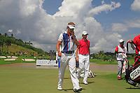 Joost Luiten's (NED) sinks his par putt on the 18th green during Sundays Final Round 3 of the 54 hole Iskandar Johor Open 2011 at the Horizon Hills Golf Resort Johor, Malaysia, 19th November 2011 (Photo Eoin Clarke/www.golffile.ie)