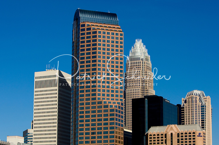 The uptown Charlotte skyline in Charlotte, NC.