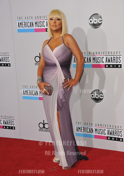 Christina Aguilera at the 40th Anniversary American Music Awards at the Nokia Theatre LA Live..November 18, 2012  Los Angeles, CA.Picture: Paul Smith / Featureflash