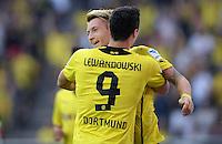 FUSSBALL   1. BUNDESLIGA   SAISON 2013/2014   SUPERCUP Borussia Dortmund - FC Bayern Muenchen           27.07.2013 Torjubel: Marco Reus und Robert Lewandowski (v.l., beide Borussia Dortmund) nach dem 1:0