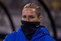 COLUMBUS, OH - NOVEMBER 07: Ashlyn Harris #18 of the United States stands on the sideline during a game between Sweden and USWNT at Mapfre Stadium on November 07, 2019 in Columbus, Ohio.