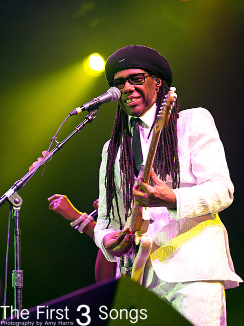 Nile Rogers performs during the 2014 Essence Festival at the Mercedes-Benz Superdome in New Orleans, Louisiana.