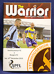 Same date different cover. Stenhousemuir match programme differs from the non issued one also from the abandoned game in December