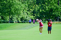 So Yeon Ryu (KOR) hits her approach shot on 1 during Saturday's third round of the 72nd U.S. Women's Open Championship, at Trump National Golf Club, Bedminster, New Jersey. 7/15/2017.<br /> Picture: Golffile | Ken Murray<br /> <br /> <br /> All photo usage must carry mandatory copyright credit (&copy; Golffile | Ken Murray)